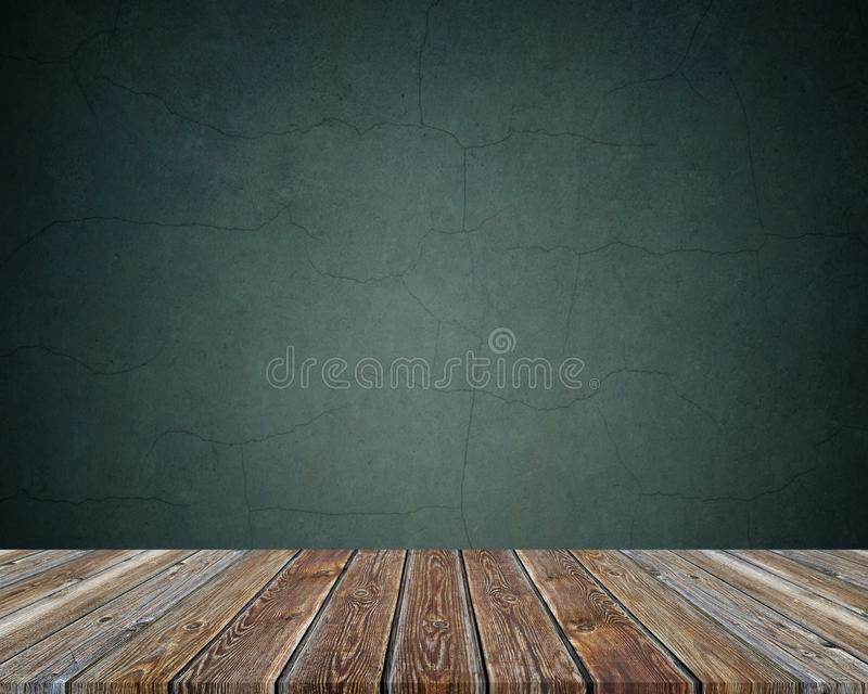 Empty wooden table over dark background. texture. royalty free stock photography