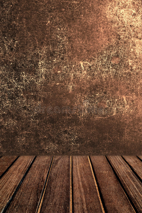 Empty wooden table for product display. Abstract Dark brown col stock photography