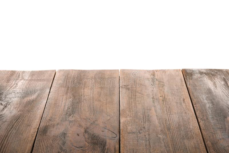 Empty wooden table surface royalty free stock photo