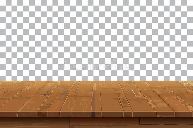 Empty wooden table top background.Old vintage shelf tex royalty free illustration