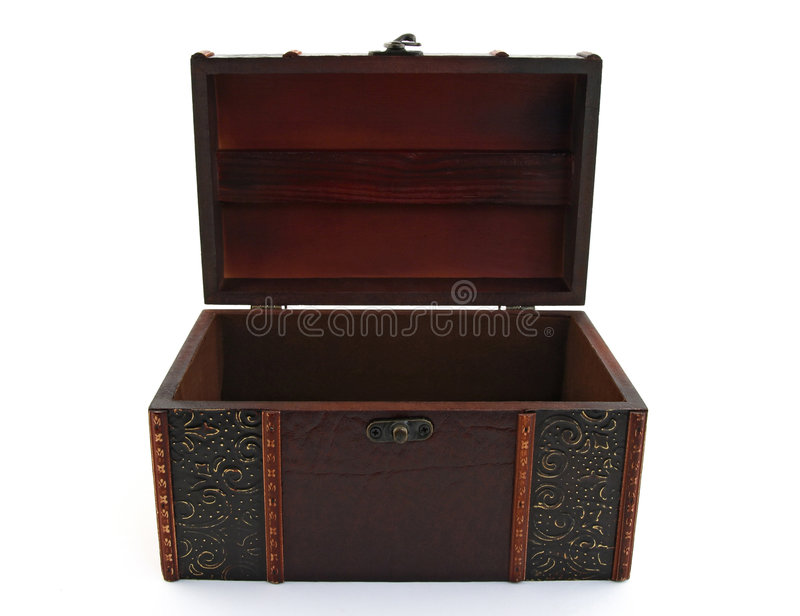 Download Empty Wooden Treasure Chest Stock Image - Image: 3427519
