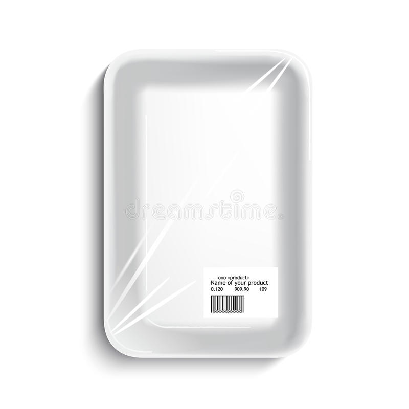 Empty wrapped food tray royalty free illustration