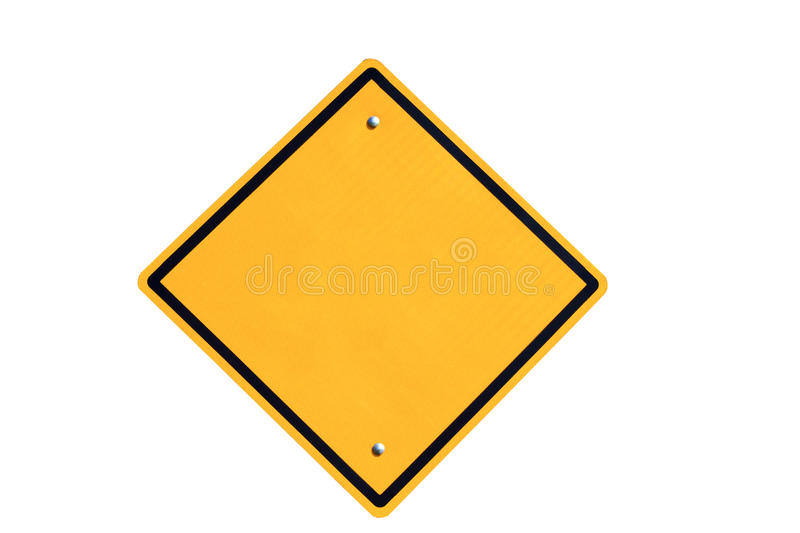 Empty Yellow Road Sign Stock Images