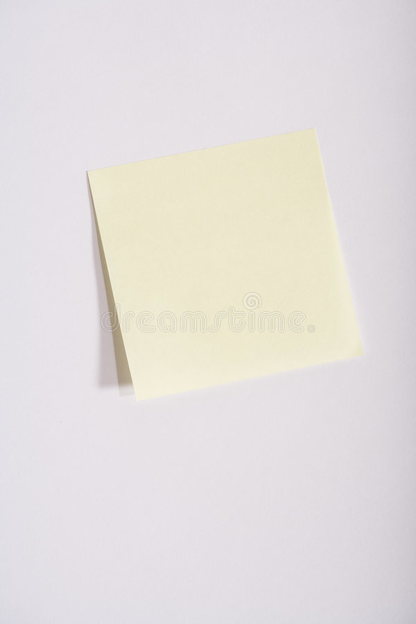 empty yellow sticky note stock images