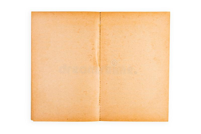 Empty Yellowed Pages of Old Book royalty free stock images