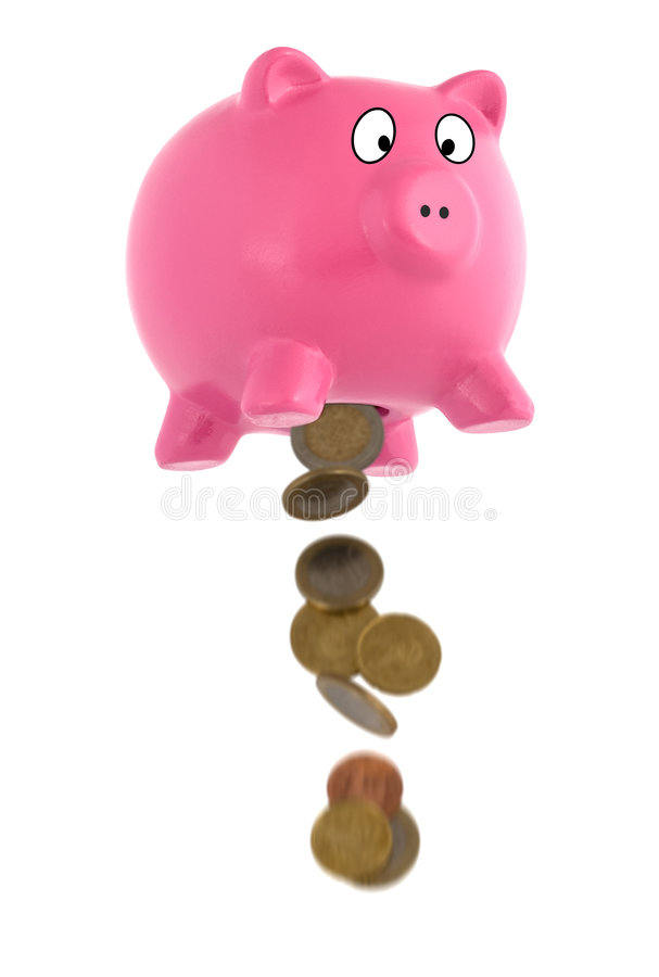 Emptying The Piggy Bank Royalty Free Stock Photography