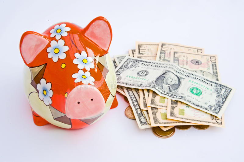 Download Emptying A Piggy Bank For Holiday Money. Stock Images - Image: 12026494