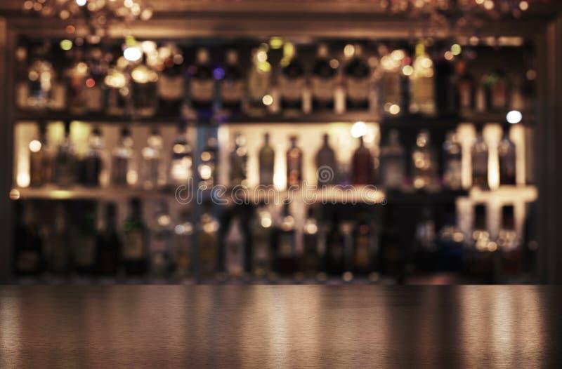 Emptywooden bar odpierający z kopii przestrzenią zdjęcie stock