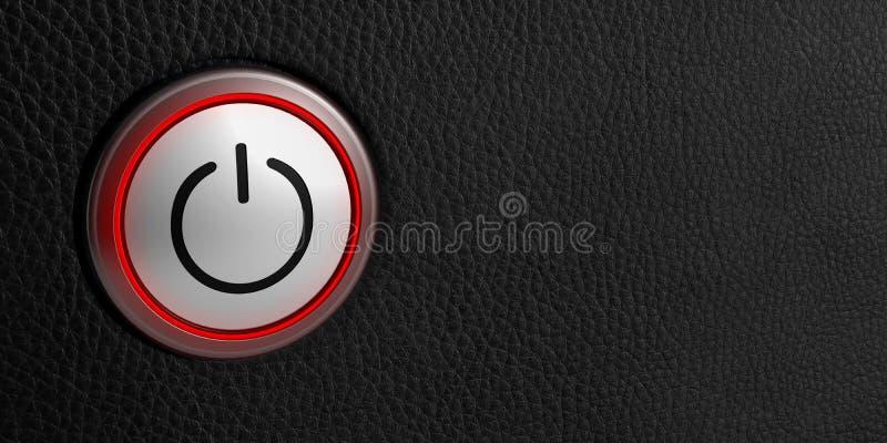 Empuje de tecnología del símbolo de inicio del poder del botón libre illustration