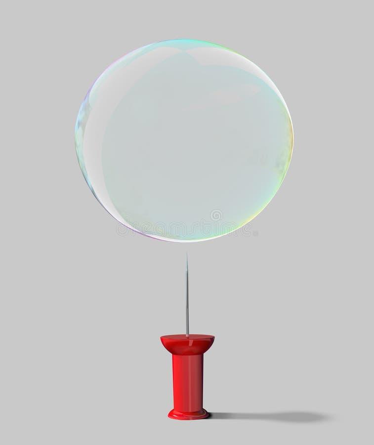 Download Empuje El Pin Y La Burbuja De Jabón Stock de ilustración - Ilustración de aislado, palillo: 7275472
