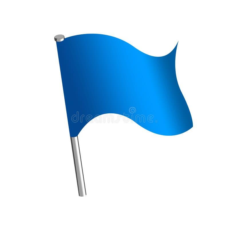 Empuje la bandera del perno stock de ilustración