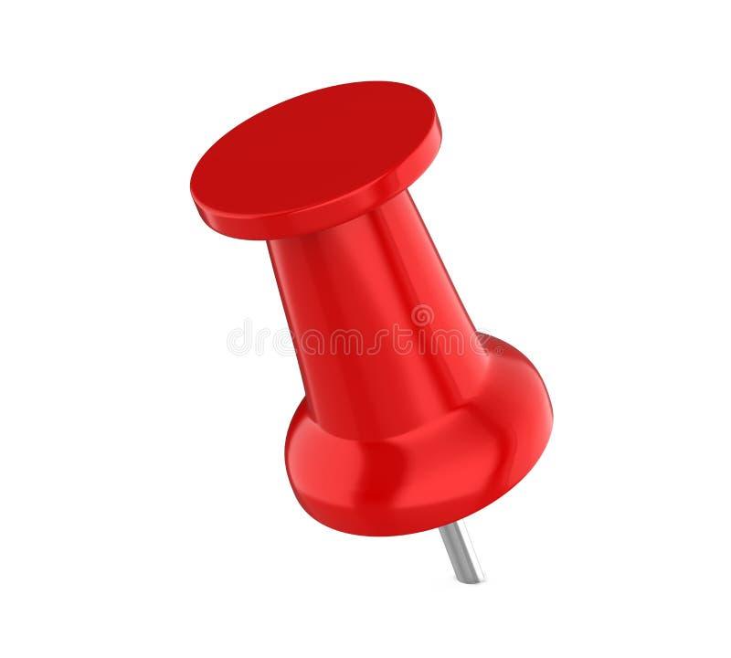 Empuje rojo Pin Isolated ilustración del vector