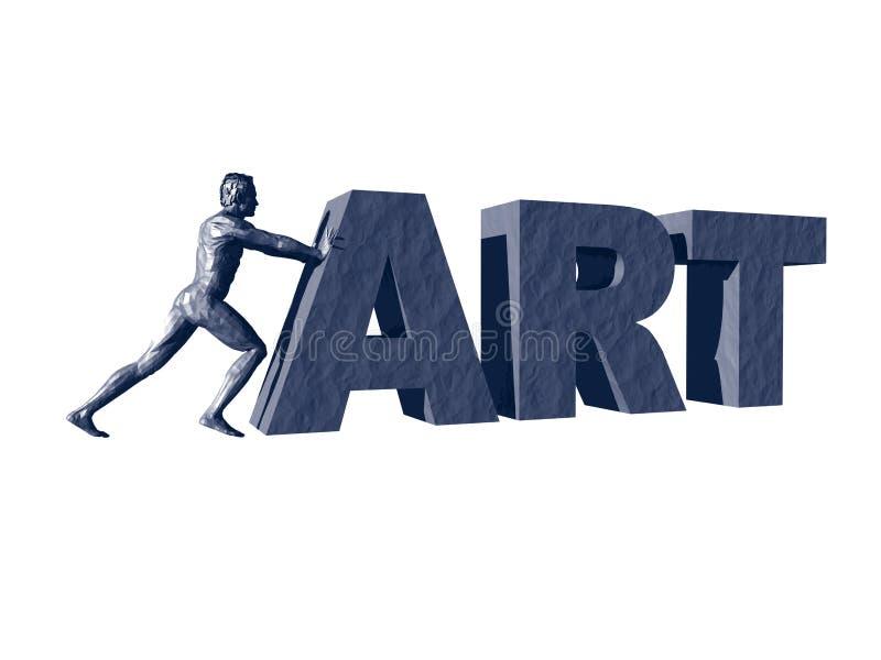 Empurrando a arte ilustração royalty free