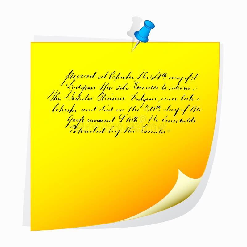 Empurre a nota do pino ilustração do vetor