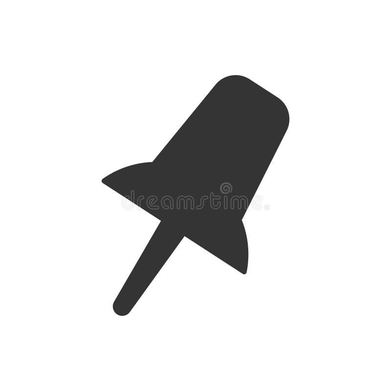 Empurre o ícone do pino ilustração do vetor
