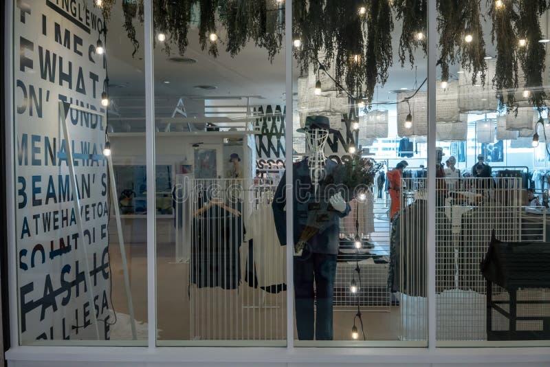 Emquatier的,曼谷,泰国, 2018年10月15日另一家故事商店 免版税库存照片