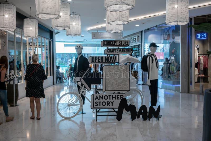 Emquatier的,曼谷,泰国, 2018年10月15日另一家故事商店 免版税库存图片