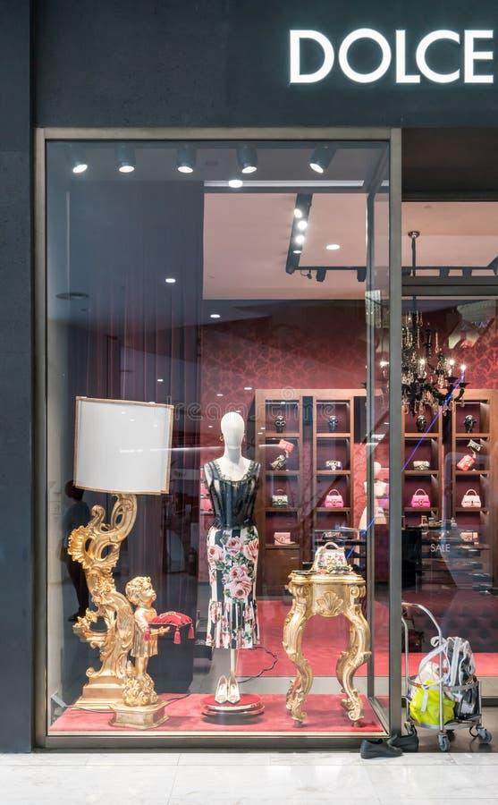 Emquatier的,曼谷,泰国, 201 1月6日, Dolce & Gabbana商店 库存图片