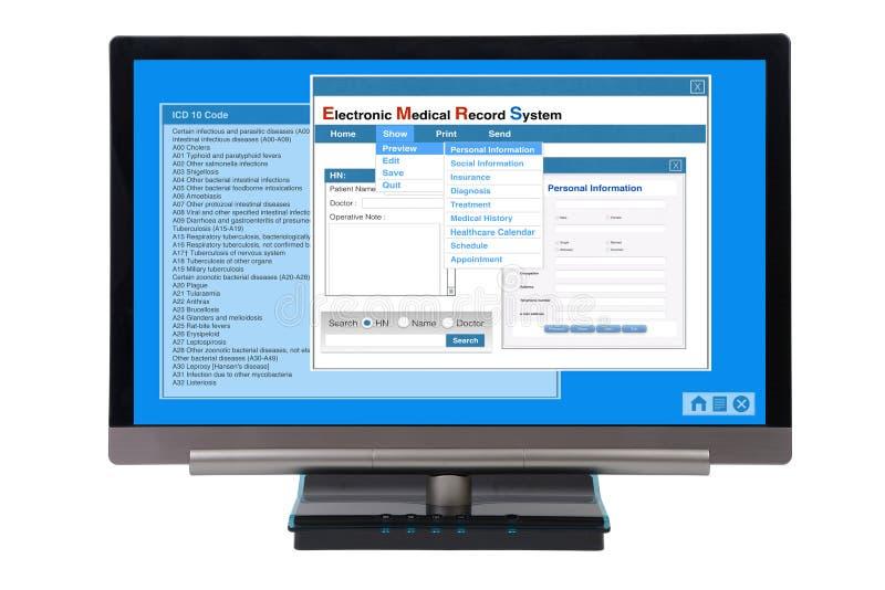 EMR no computador ilustração do vetor