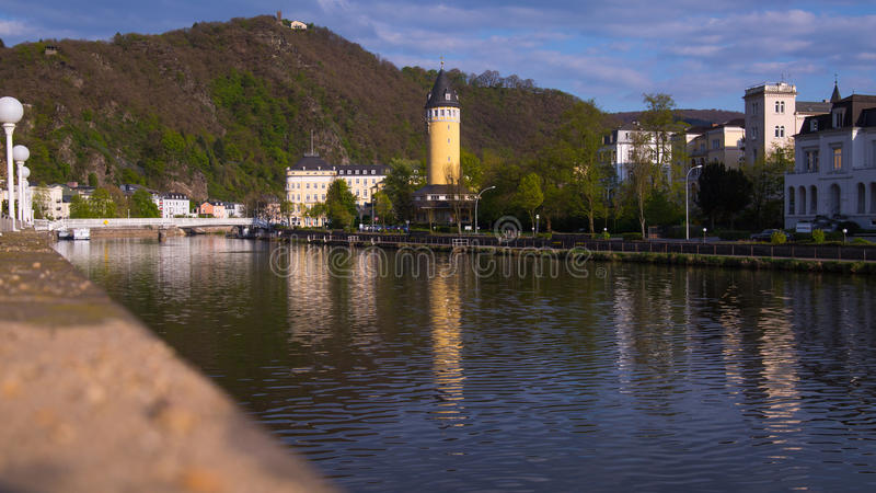 EMS mau, Alemanha, opiniões da cidade fotos de stock royalty free