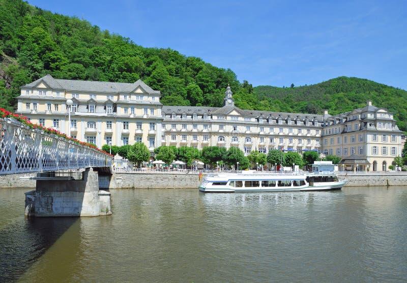 Ems mau, rio de Lahn, Rhineland-palatinado, Alemanha imagens de stock
