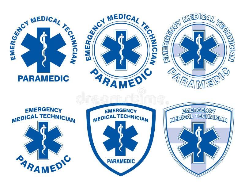 EMT sanitariusza Medyczni projekty royalty ilustracja