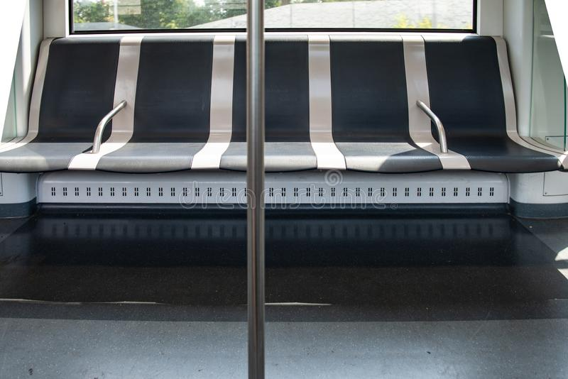 Emty Bench in the Metro stock images