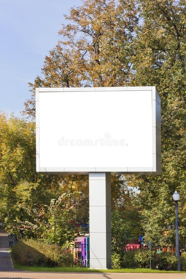 Download Emty Big LED Display In Autumn City Park Stock Image - Image: 27177201