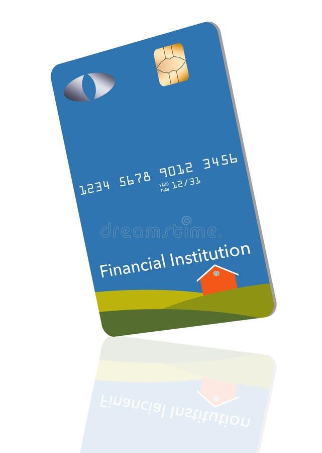 EMV-chiper har lett till en revidering av några kreditkortar till en lodlinje eller ett stående format Här är en falsk generisk k stock illustrationer