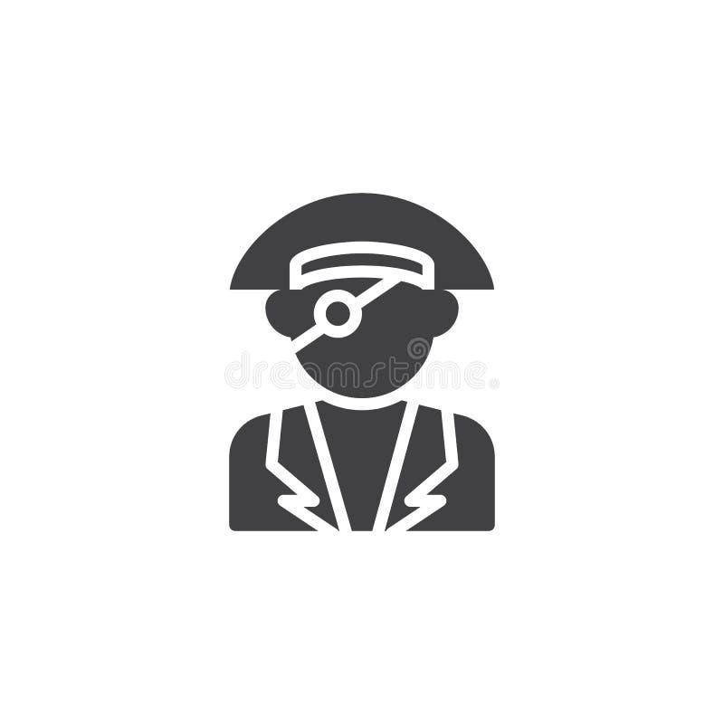 Enögt piratkopiera vektorsymbolen stock illustrationer