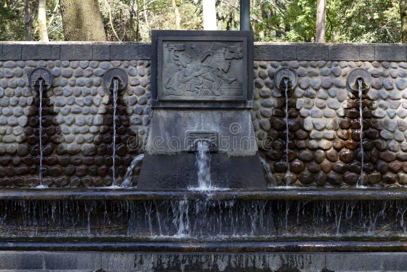 En åtskillig fontain i det mest forrest arkivbild