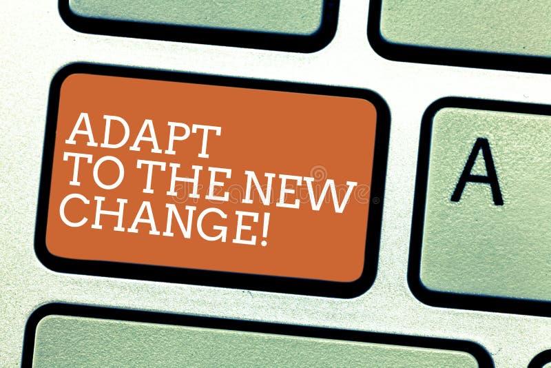 En écrivant l'apparence de note adaptez au nouveau changement La présentation de photo d'affaires s'habituent différentes stratég image libre de droits