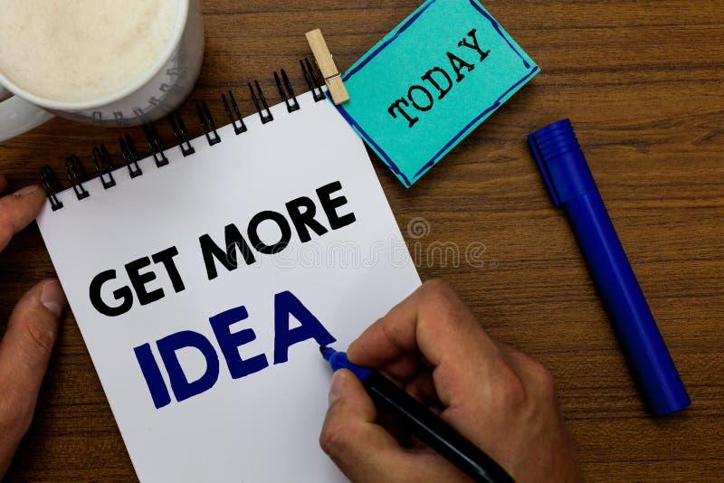 En écrivant l'apparence de note ayez plus d'idée Photo d'affaires présentant la moquerie aléatoire d'image de carte d'esprit d'en photo libre de droits