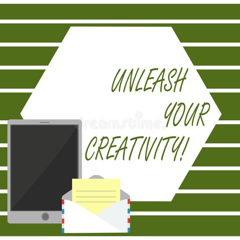 En écrivant l'apparence de note lâchez votre créativité La présentation de photo d'affaires développent la sagesse personnelle de illustration de vecteur