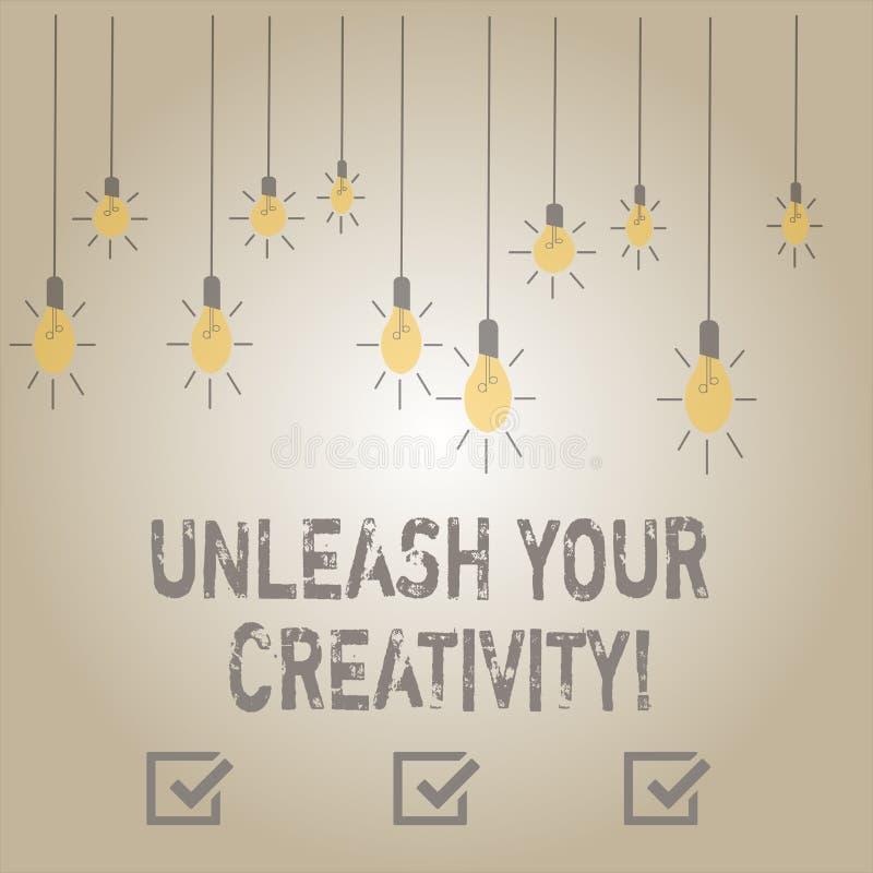 En écrivant l'apparence de note lâchez votre créativité La présentation de photo d'affaires développent la sagesse personnelle de illustration libre de droits