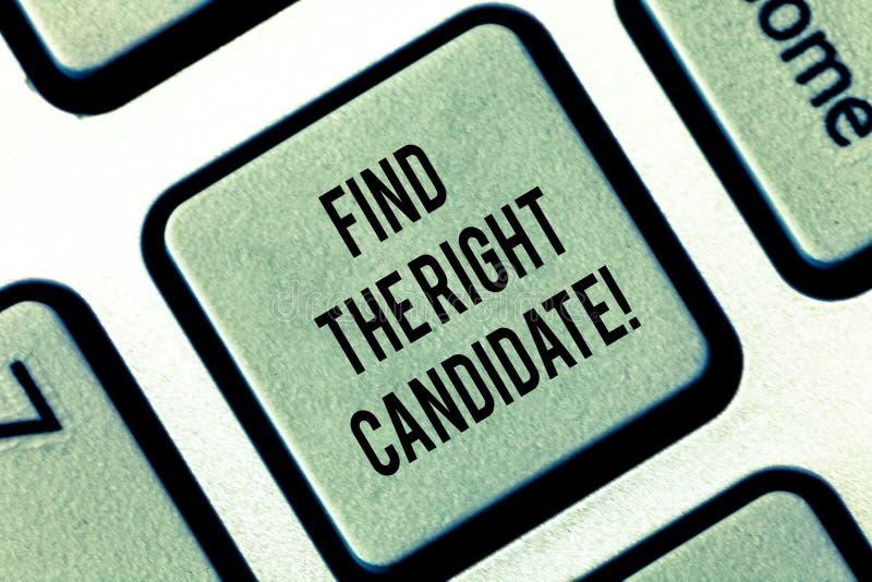 En écrivant l'apparence de note trouvez le candidat droit Recrutement de présentation de photo d'affaires cherchant pour d'excell photo libre de droits