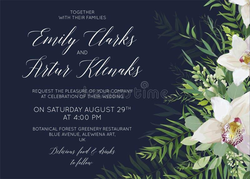 En épousant invitez, sauvez la conception sensible de carte de date avec le blanc ou illustration de vecteur