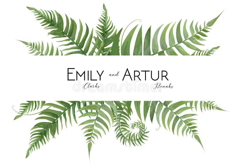En épousant l'aquarelle florale invitez, invitation, sauvent la carte de date illustration stock