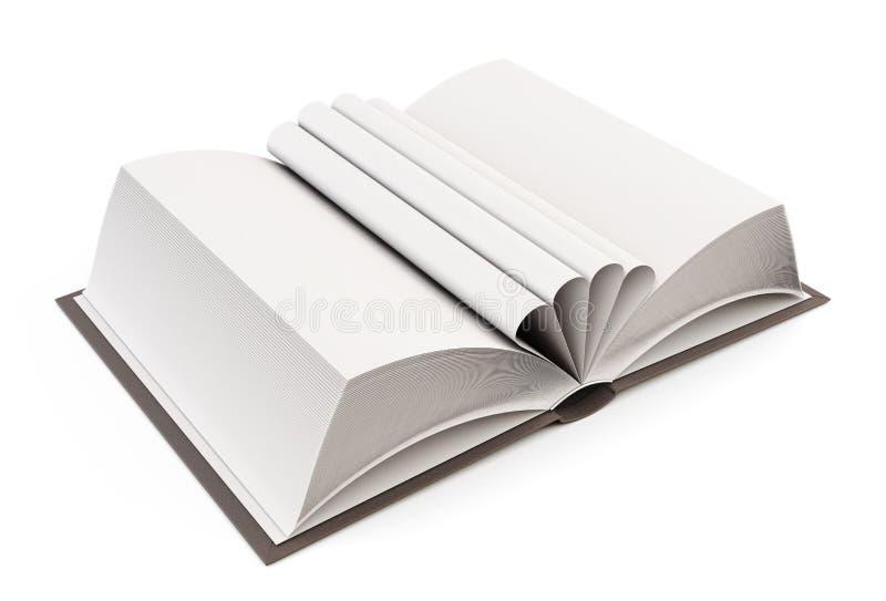 En öppen bok med stoppade sidor 3d royaltyfri illustrationer