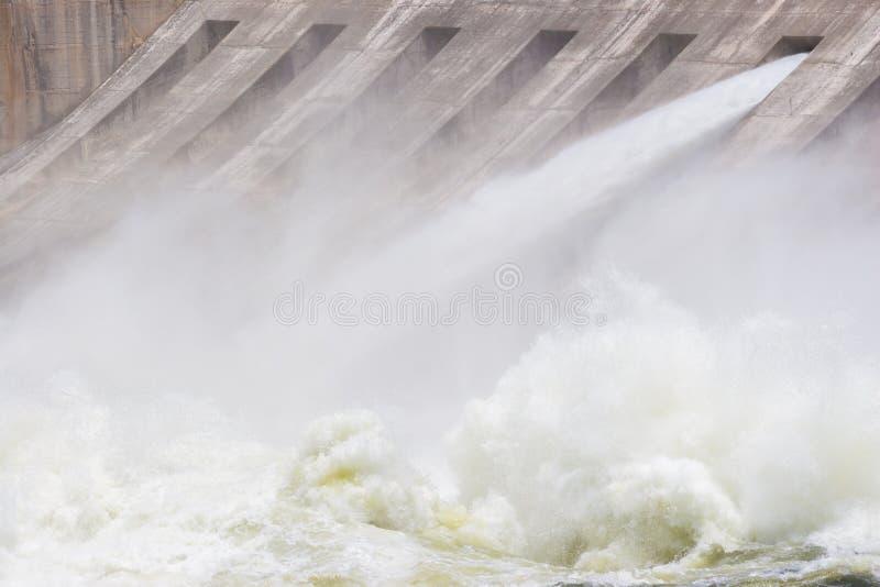 En öppen port och extremt turbulent vatten royaltyfri fotografi