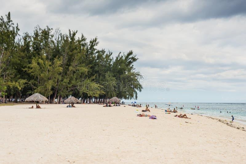 EN παραλία Flac Flic, Μαυρίκιος στοκ φωτογραφία