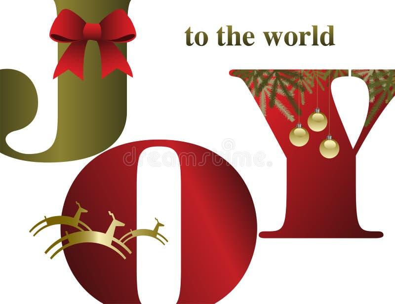 En abstrakt julbakgrund med glädje stock illustrationer