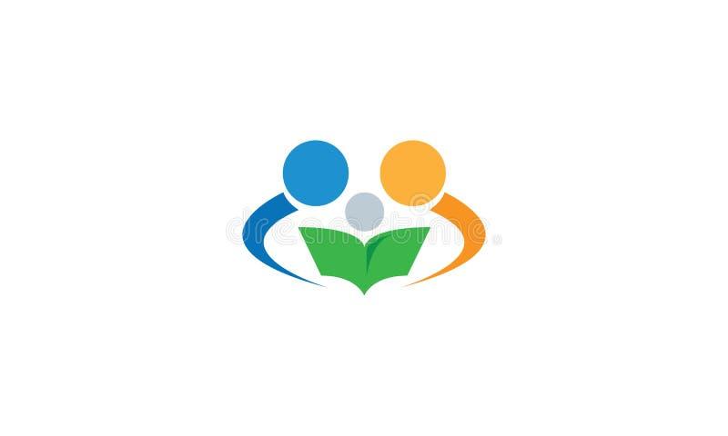 En abstrakt logo av föräldrar och barnet royaltyfri illustrationer
