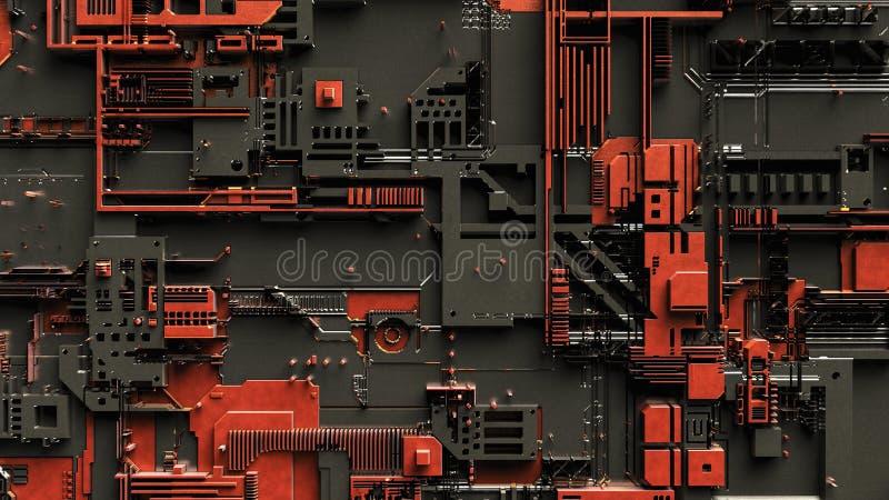 En abstrakt teknisk bakgrund royaltyfri illustrationer