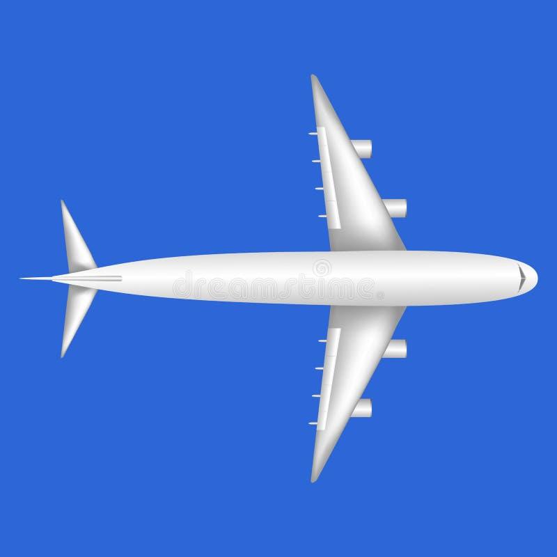 En aero plan överblick för vit stråle uppifrån royaltyfria bilder