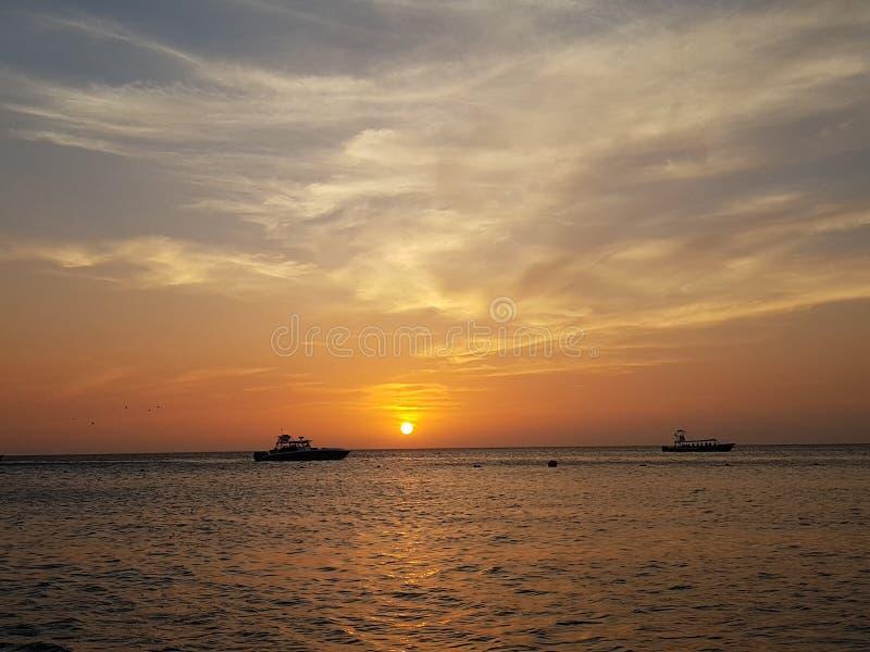 En annan Caribean solnedgång royaltyfria bilder