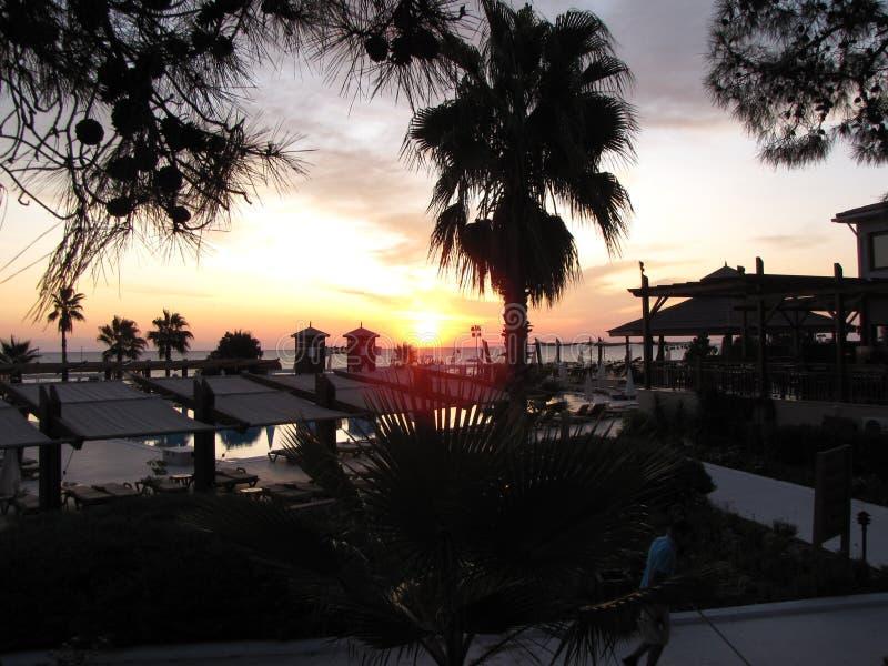 En annan härlig solnedgång i Egypten royaltyfria foton