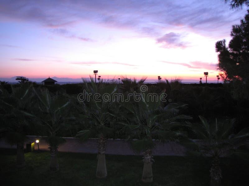 En annan härlig solnedgång i Egypten royaltyfri fotografi