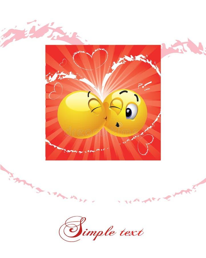 en annan kyssande smiley för boll vektor illustrationer