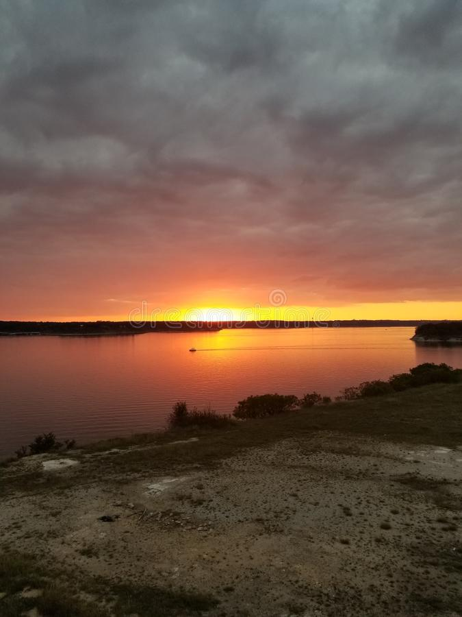 en annan solnedgång royaltyfri bild